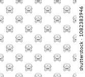 school bus pattern vector...   Shutterstock .eps vector #1082383946