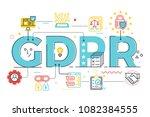 gdpr  general data protection... | Shutterstock .eps vector #1082384555