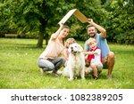 family plans house construction ... | Shutterstock . vector #1082389205