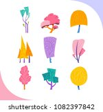 set of simple stylised trees.... | Shutterstock .eps vector #1082397842