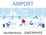 different people sitting and...   Shutterstock .eps vector #1082399435