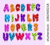 bright colored latin alphabet... | Shutterstock .eps vector #1082400218