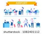 vector set of people characters ...   Shutterstock .eps vector #1082401112