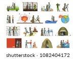 stateless refugees  war victims ... | Shutterstock .eps vector #1082404172