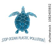 stop ocean plastic pollution... | Shutterstock .eps vector #1082405852