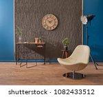 modern study and work room... | Shutterstock . vector #1082433512