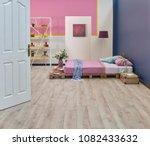 bedroom modern home design with ... | Shutterstock . vector #1082433632