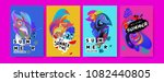 vector colorful summer tropical ... | Shutterstock .eps vector #1082440805