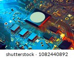 electronic circuit board close... | Shutterstock . vector #1082440892