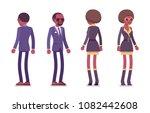 secret agent black man and... | Shutterstock .eps vector #1082442608