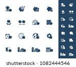 savings icon set   piggy bank...   Shutterstock .eps vector #1082444546