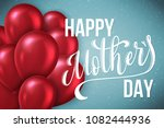 happy mothers day greeting card ... | Shutterstock . vector #1082444936