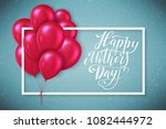 happy mothers day greeting card ... | Shutterstock . vector #1082444972