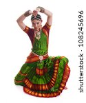 Bollywood Dancer In Green And...