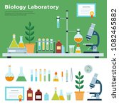 biology science laboratory.... | Shutterstock .eps vector #1082465882
