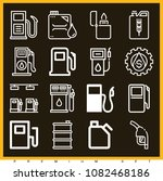 set of 16 gasoline outline... | Shutterstock .eps vector #1082468186