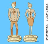 gender equality  man and woman... | Shutterstock .eps vector #1082475566