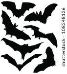 bats silhouette 2 vector | Shutterstock .eps vector #108248126