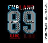 england typograpy kids t shirt... | Shutterstock .eps vector #1082485628