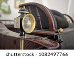 details of old carriage lamp | Shutterstock . vector #1082497766