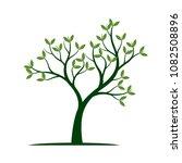 green spring tree. vector... | Shutterstock .eps vector #1082508896