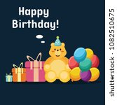 happy birthday background with... | Shutterstock .eps vector #1082510675