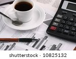 cup of fragrant coffee on a...   Shutterstock . vector #10825132