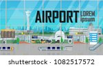 view of space in the airport... | Shutterstock .eps vector #1082517572