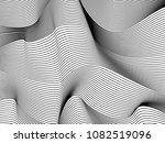 wavy background of lines.... | Shutterstock .eps vector #1082519096