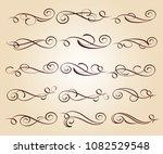 calligraphic elegant elements... | Shutterstock .eps vector #1082529548