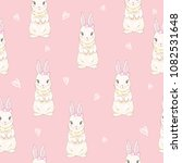 seamless pattern with cute... | Shutterstock . vector #1082531648