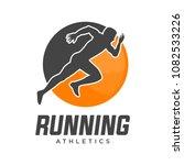 running man silhouette ...   Shutterstock .eps vector #1082533226