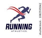 running and marathon logo vector | Shutterstock .eps vector #1082535062