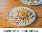 pad thai with chicken. shallow... | Shutterstock . vector #1082536562