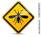 illustration of mosquito yellow ... | Shutterstock .eps vector #1082538392