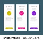 web pricing table design for... | Shutterstock .eps vector #1082540576