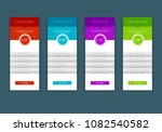 web pricing table design for... | Shutterstock .eps vector #1082540582