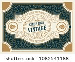 vintage logo and frame template | Shutterstock .eps vector #1082541188