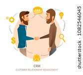 crm   customer relationship... | Shutterstock .eps vector #1082546045