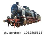 Old Steam Train Isolated On...