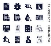 set of 16 test filled icons... | Shutterstock .eps vector #1082566466