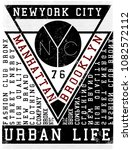 nyc  new york  stock vector... | Shutterstock .eps vector #1082572112