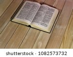 Open Bible On A New Wooden...