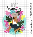 summer paradise poster with... | Shutterstock .eps vector #1082583818