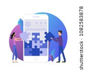 mobile application development... | Shutterstock .eps vector #1082583878