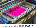 serigraphy printer ink machine... | Shutterstock . vector #1082584715