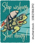 t shirt or poster design with... | Shutterstock .eps vector #1082586392