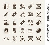set of 25 science filled icons...   Shutterstock .eps vector #1082586512