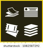 set of 4 papers filled icons... | Shutterstock .eps vector #1082587292