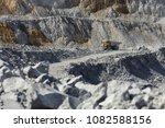 heavy dump truck in a quarry....   Shutterstock . vector #1082588156